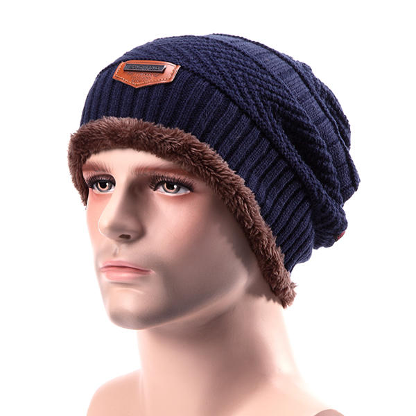 63b6591baa079 Men Knitted Slouch Beanie Hat - Banggood Mobile