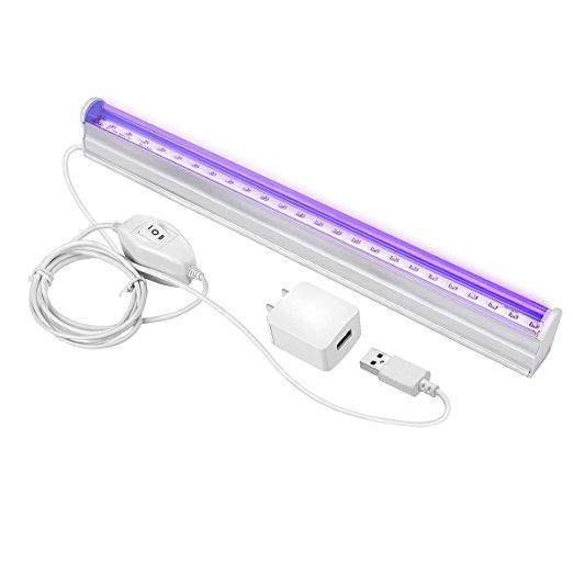 Aquarium LED Light UV LED Black Light Fixtures 6W Portable Blacklight Lamp
