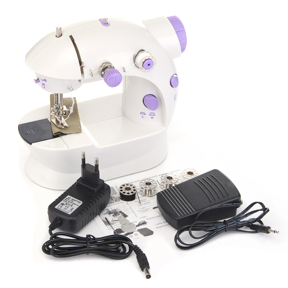 Portable Home Handwork Electric Mini Sewing Machine With Led Light