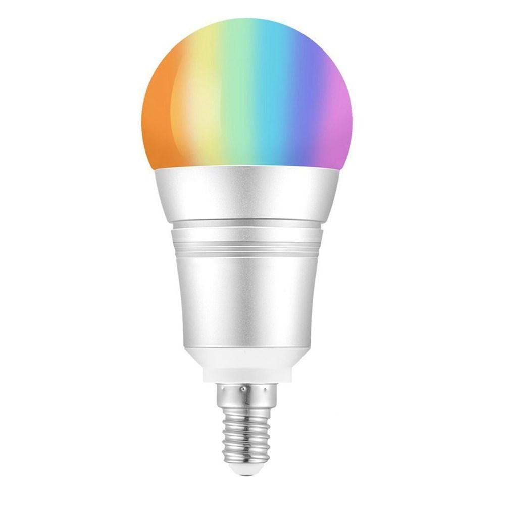 E27 E14 B22 9W RGB+Warm White WIFI LED Smart Light Bulb Work with Alexa Voice Control AC110-255V