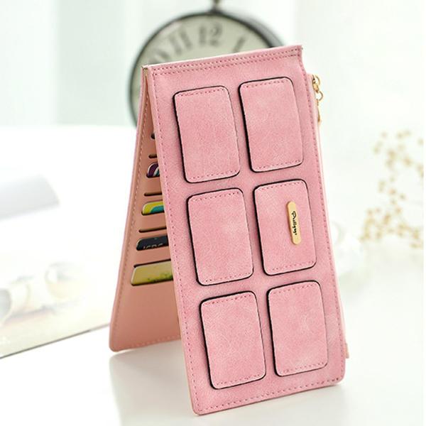المرأة بو الجلود مربع بطاقة حامل الهاتف المحفظة حقيبة الهاتف
