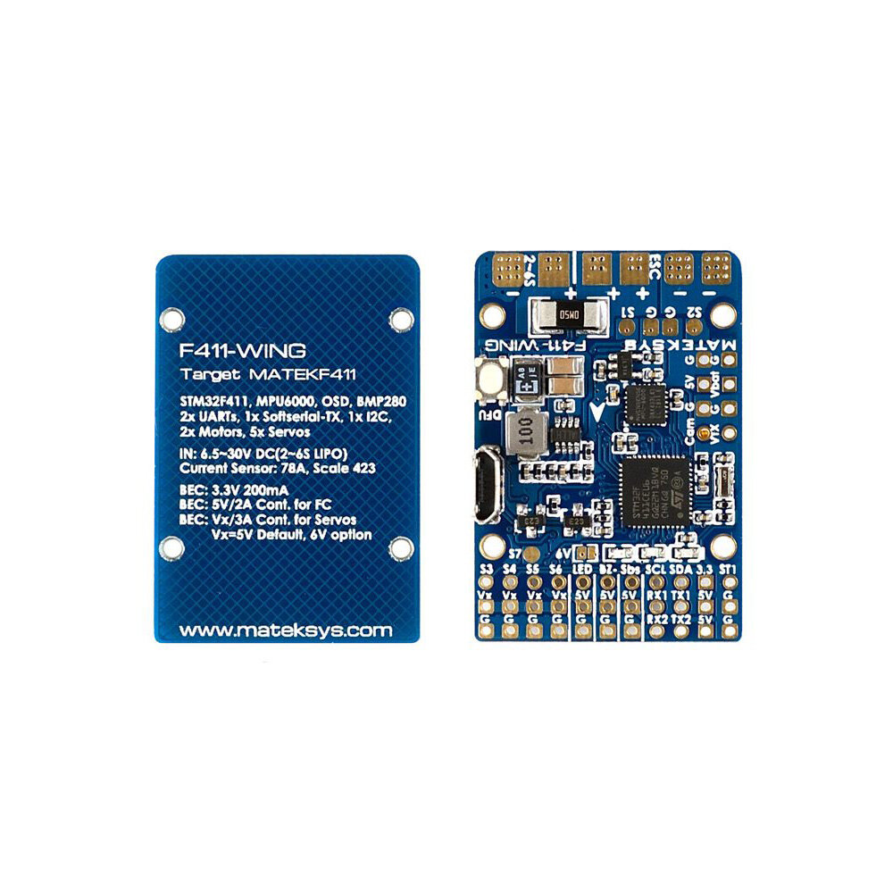 Matek Systems F411 Wing New Stm32f411 Flight Controller Built In Texas Gg Wiring Diagram Osd For Rc Airplane Sale