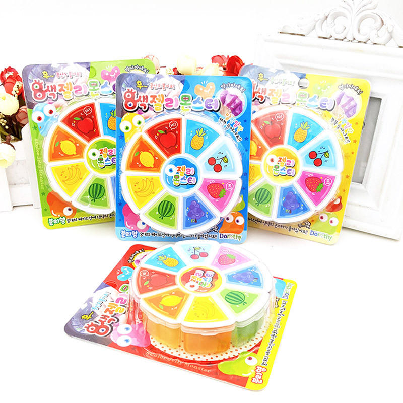 3D Fruit Slime 8 Kleuren DIY Crystal Jelly Clay Rubber Modder Intelligent Hand Gum Plasticine Toy Gift