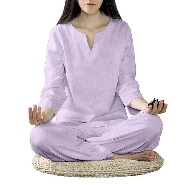 ชุดสตรี Yoga ชุดทักทายทำด้วยผ้าลินินชุดสตรีชุดสตรีเต้นรำ การออกกำลังกาย เสื้อผ้าชุดกีฬา