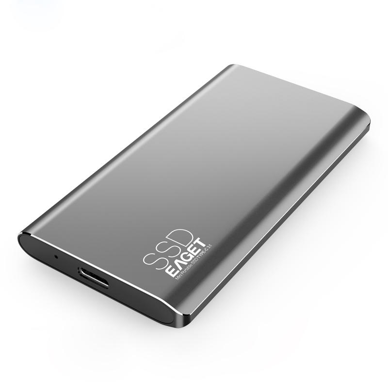 EAGET M1 Disque dur externe USB 3.1 TYPE-C 512 Go SSD portable SSD nomade SSD