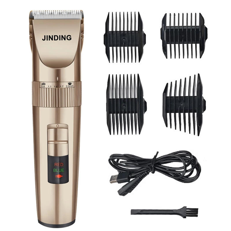 JINDING LED Display Rechargeable Hair Clipper Trimmer Beard Shaver Washable  Ceramic Blade Men Child