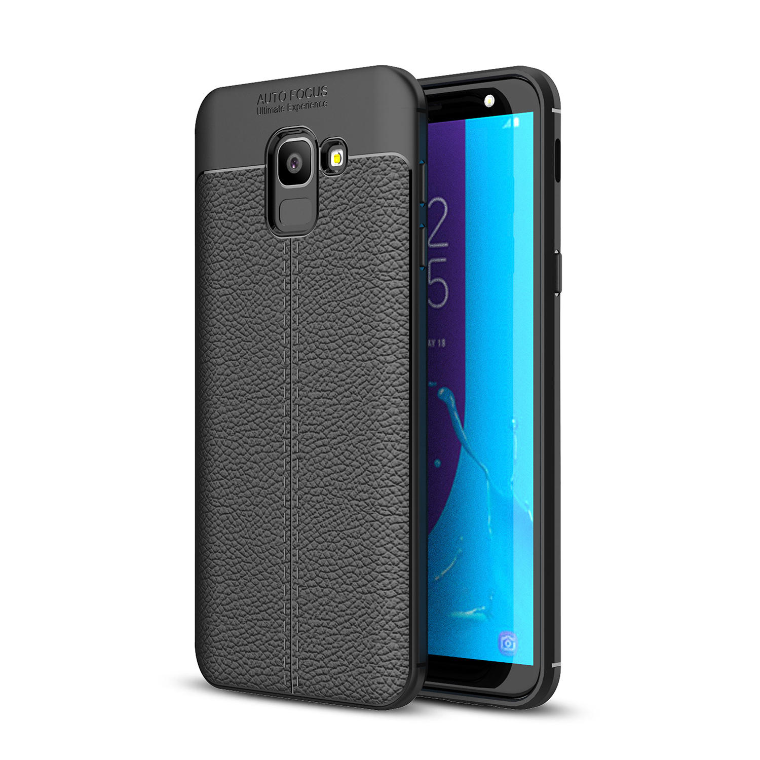 Bakeey Litchi Leather Soft TPU Protective Caso para Samsung Galaxy J6 2018 EU Version