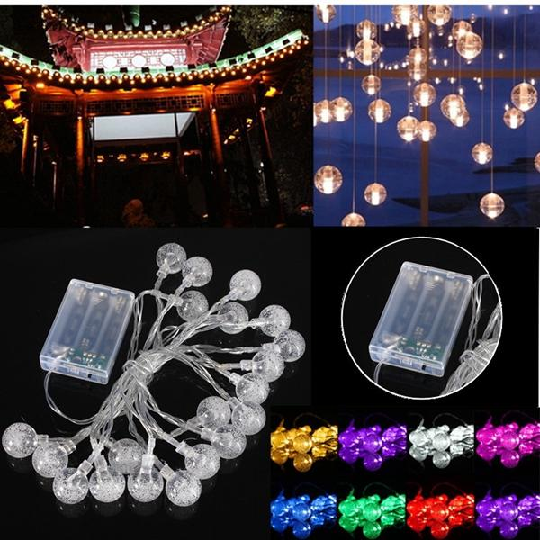 3m 20led Battery Bubble Ball Fairy String Lights Garden Party