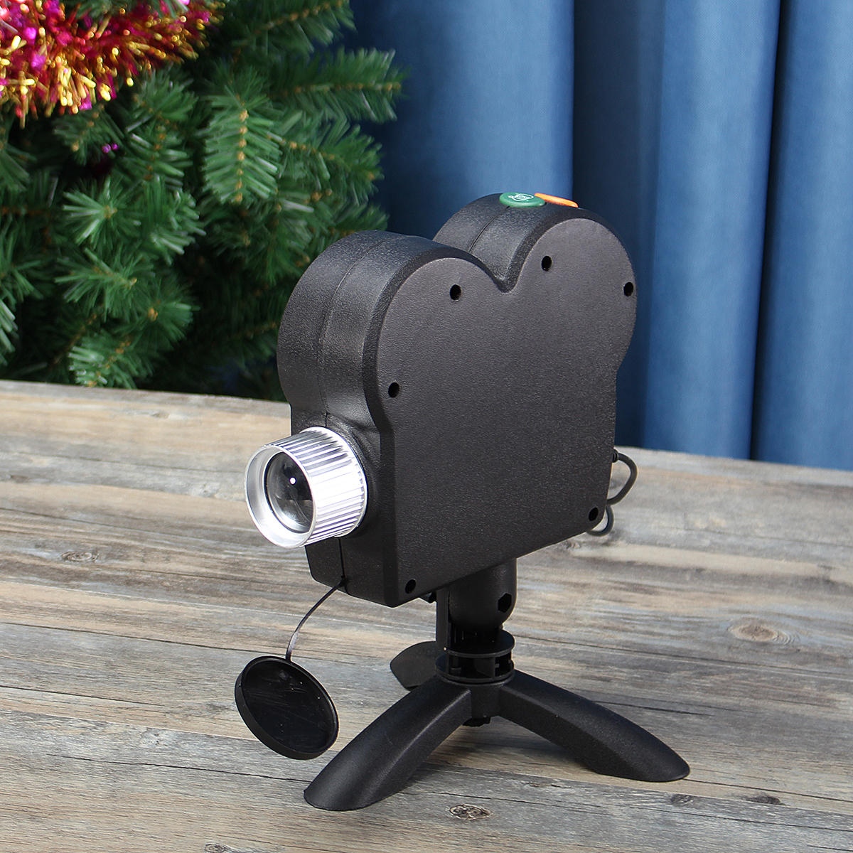 mini holiday video window projector lamp halloween christmas light