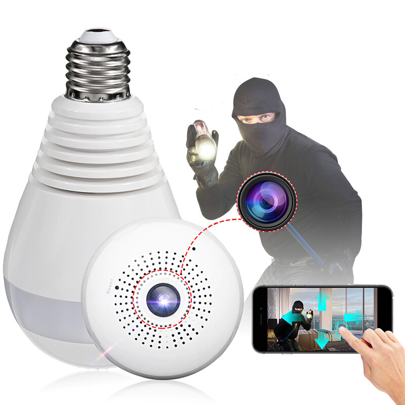 E27 360 panoramic 1080p ir camera light bulb wifi fisheye cctv e27 360 panoramic 1080p ir camera light bulb wifi fisheye cctv security camera aloadofball Images
