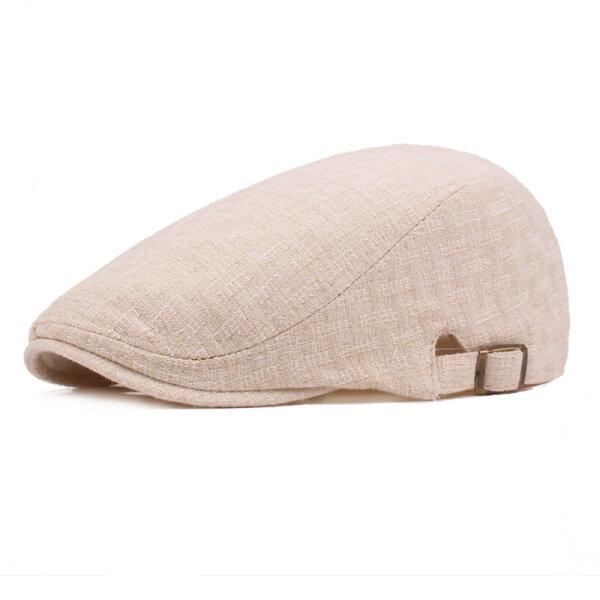Manteau mensuel Solid Beret Caps Casual Newsboy Forward Hat Gorras