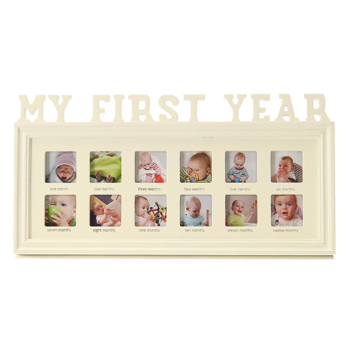 My First Year Photo Frame 12 Months Baby Multi Picture Display