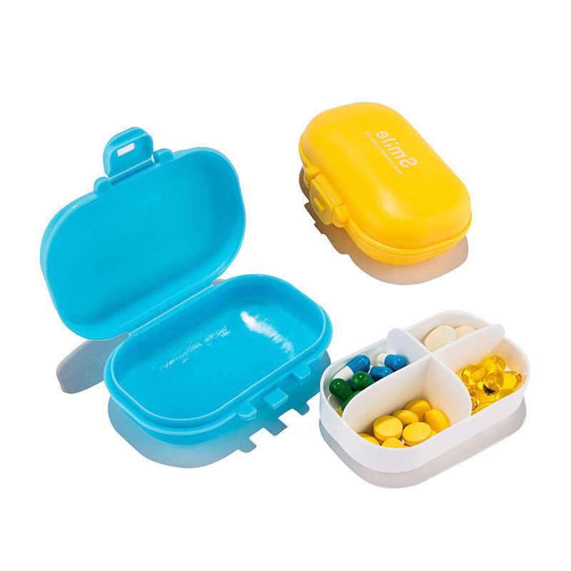 Honana HN-PB011 4 compartiments Organiseur de pilules Boîte de médecine de voyage portable Boîte de médecine quotidienne