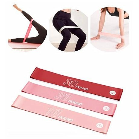 XIAOMI YUNMAI 3Pc Resistance Workout Pull Up Fitness Band Resistance Bands Workout Exercise Pilates Yoga Bands Loop Wrist Ankle