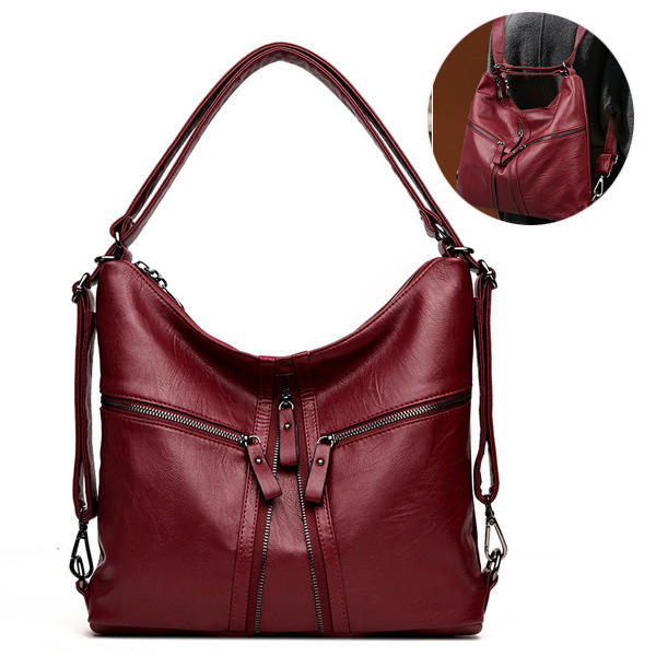 9361e08ed1739 Other Warehouse. Send me purchase update on Messenger. Women Multipie-used  Pu Leather Backpack Crossbody Bag ...