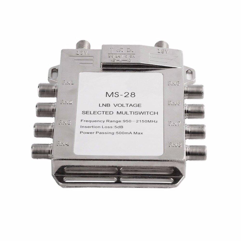 Jasen Js Ms28 2 In 8 Diseqc Switch Satellite Multiswitch Light Wiring Diagram Antenna Flat Lnb