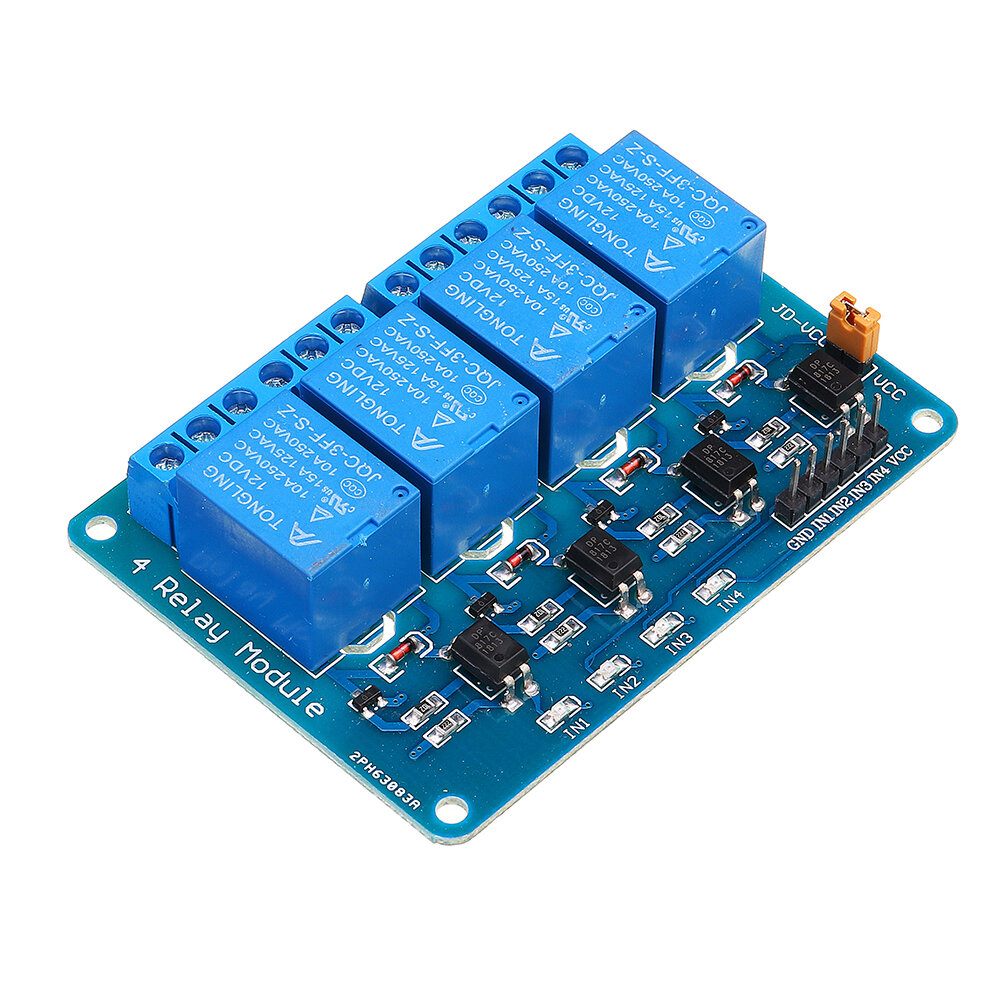 Geekcreit® 12V 4 Channel Relay Module For Arduino PIC ARM DSP AVR MSP430