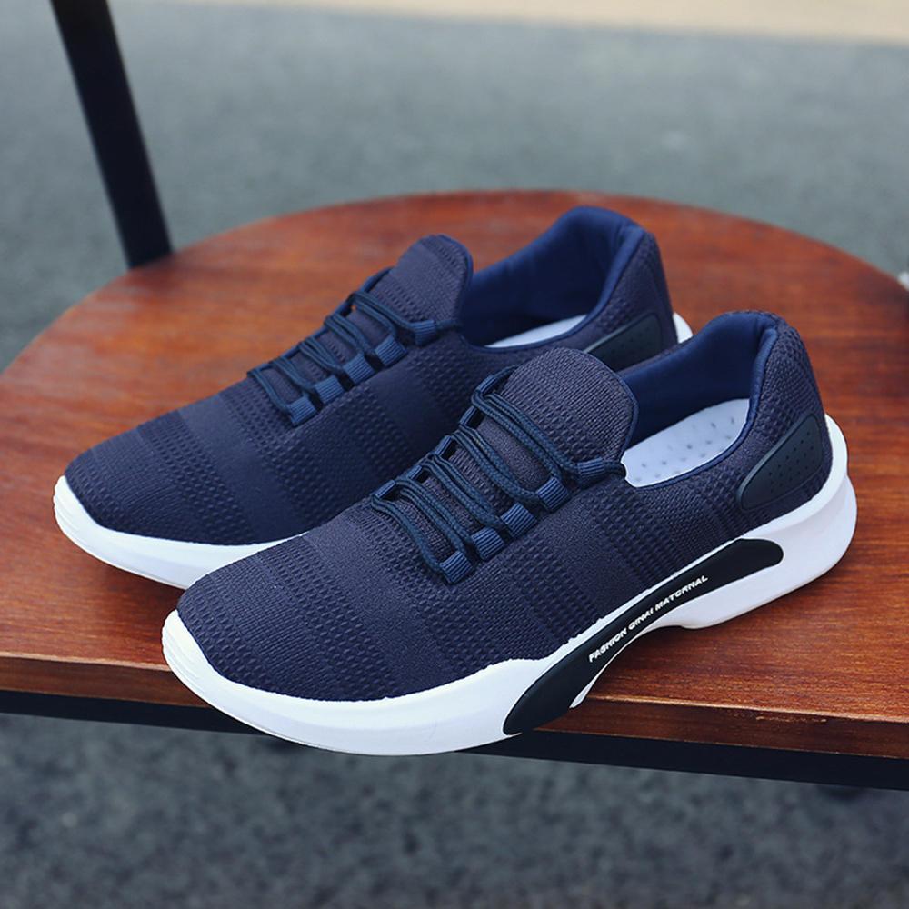 pria rajutan athletic shoes sepatu olahraga bernapas sepatu di Banggood ef62481807