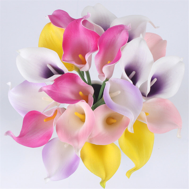 Natural Real Touch Flower Bouquet Calla Lily Wedding Decoration Fake - Which-artificial-flower-colors-are-good-for-a-home