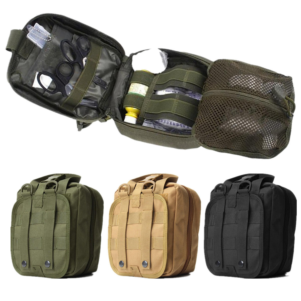 IPRee® Tactical Molle Bag EMT Medical First Aid Utility Emergency Pouch For  Vest Belt COD 8c5952cc6b3