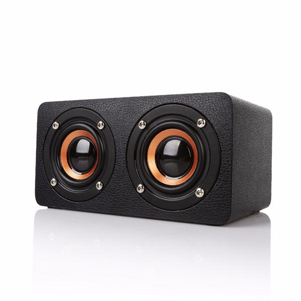 M5 Деревянный двойной блок управления TF-карта AUX FM Радио Стерео-бас Bluetooth Динамик с микрофоном