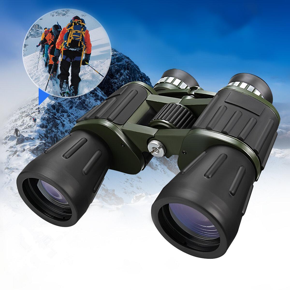 60x50 militar Ejército Zoom Telescopio potente HD Caza cámping Prismáticos de visión nocturna