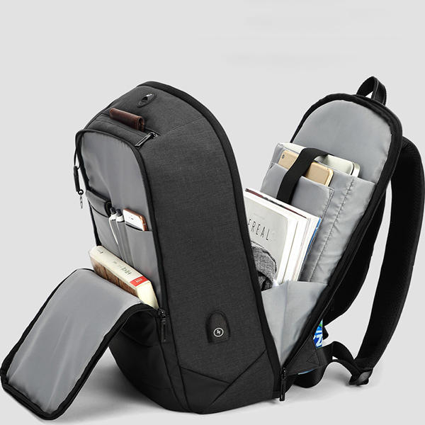 Men Anti Theft Waterproof Travel Bag With USB Charging Port 15.6 Inch Laptop Backpack