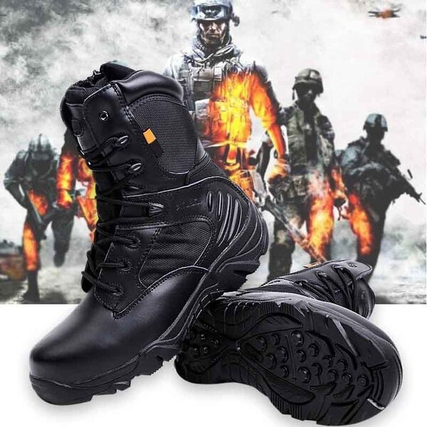 Army Men Commando Combat Desert Outdoor Hiking Boots Landing Tactical Military  Shoes COD 347ef946fd92
