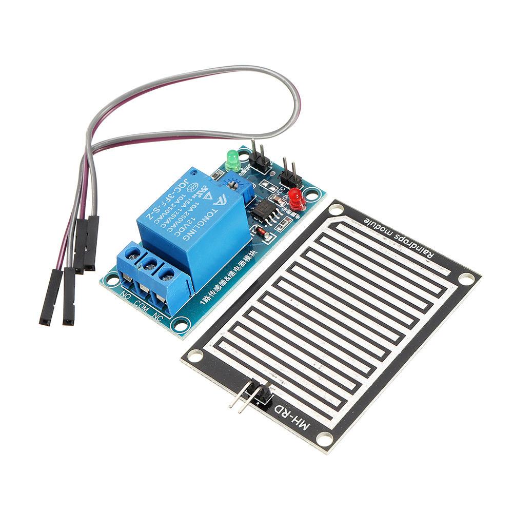 New 12v Raindrop Controller Relay Module Foliar Humidity Waterless Switch Arduino Rain Sensor For