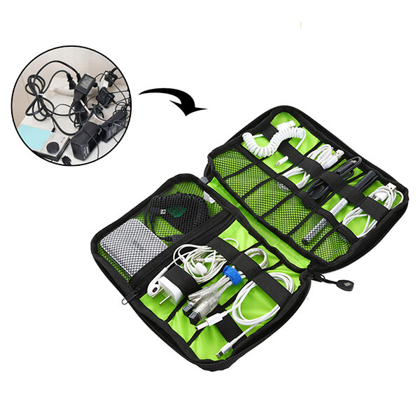 Honana HN-CB2 Waterproof Cable Storage Bag Electronic Accessories Organizer Travel Carry Case