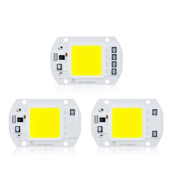 LUSTREON AC110V / 220V 20W 30W 50W Wit / Warm Wit COB LED Chip 40X60mm voor DIY Flood Light