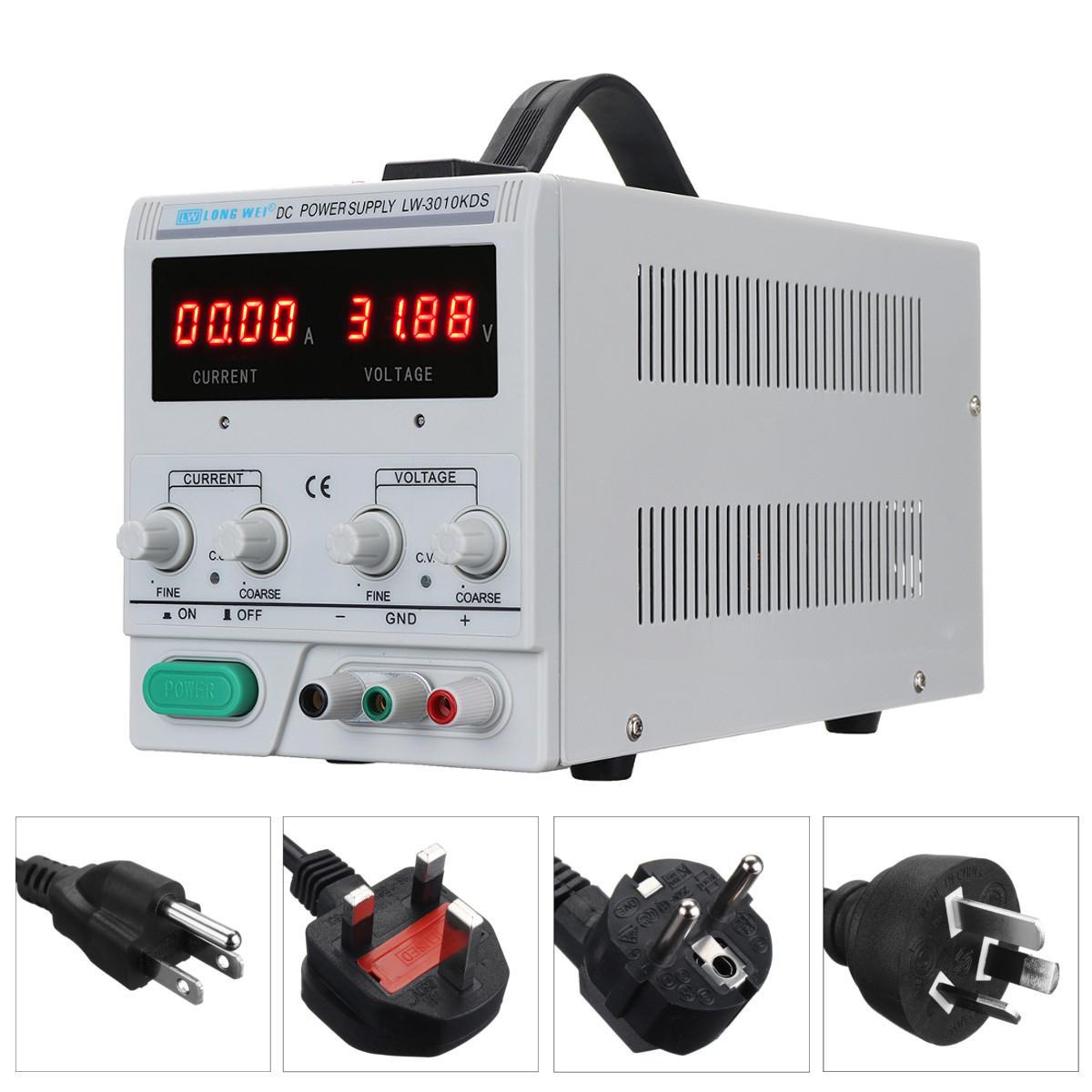 LW-3010KDS Adjustable DC Power Supply 220V/110V 0-30V 0-10A Accuracy 0.01 Dual Display EU/UK/AU/US