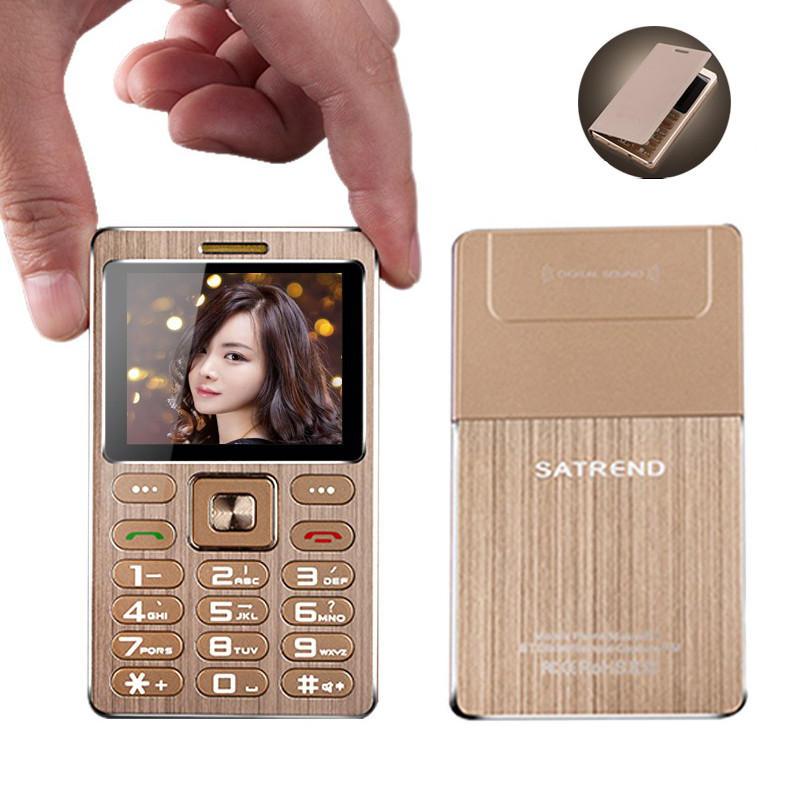 SATREND A10 1.77 Inch 480mAh Bluetooth GSM Metal Fuselage Ultra Thin Mini Card Phone COD
