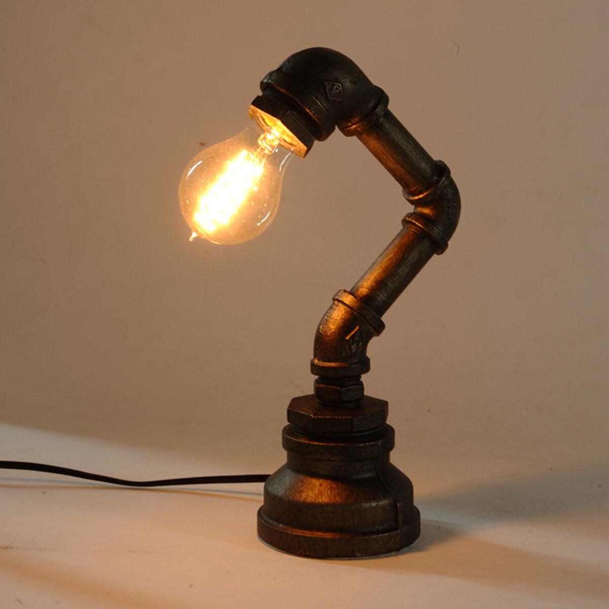 nouveau e27 lampe de bureau vintage industrielle rétro en fer avec