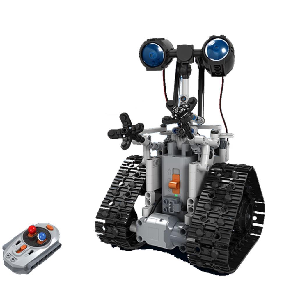 MoFun DIY 2.4G Patrol RC Robot Block Building Infrared Control Assembled Robot Toy