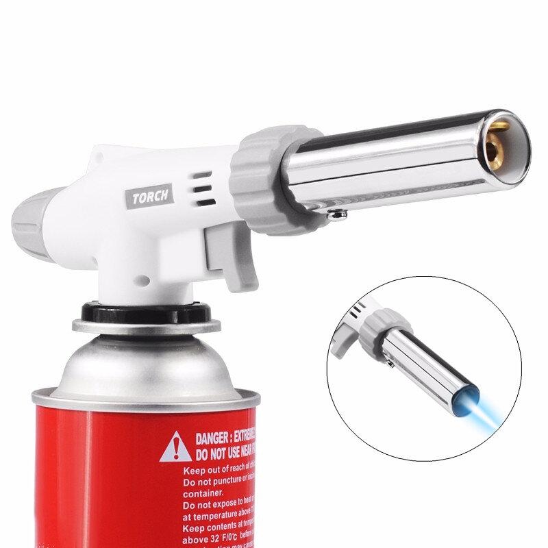 IPRee BBQ Gas Flame Torch Gun Blowtorch Cooking Stove Burner Soldering Butane  Lighter Welding
