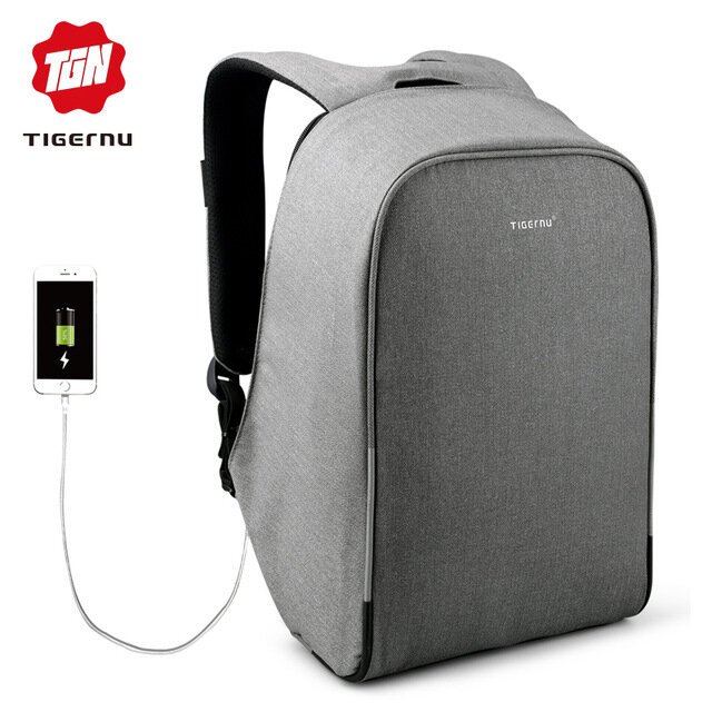 2018 Tigernu 15.6 inch Anti theft Rain cover Casual Hard Shell Laptop Bag