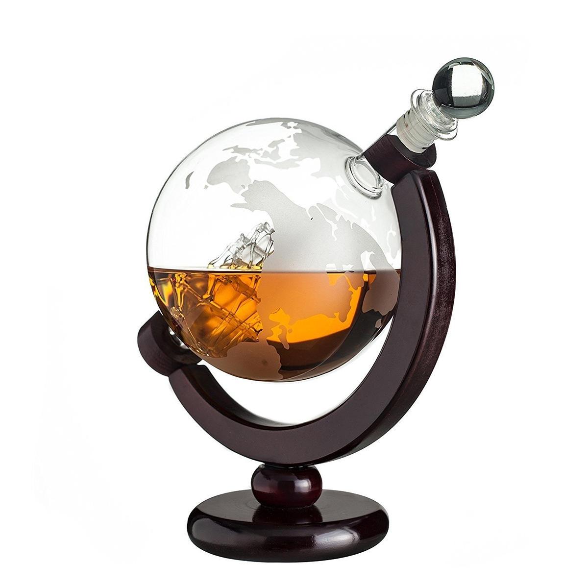 850ml Glass Decanter Globe Liquor Gifts Whiskey Bottle Large Capacity Bottle Spirits