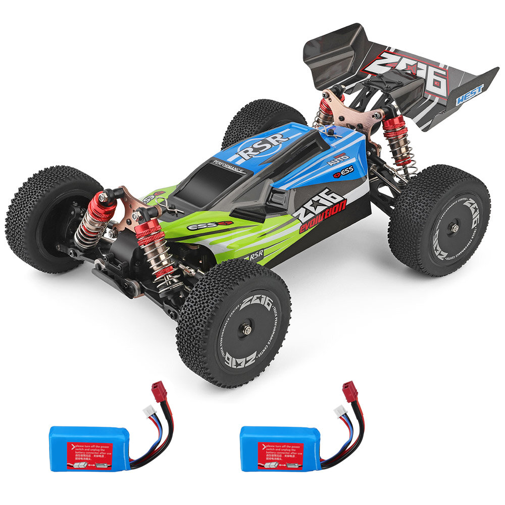 Wltoys 144001 1/14 2.4G 4WD High Speed Racing RC Car Vehicle Models 60km/h 7.4v 1500mah Two or Three Battery