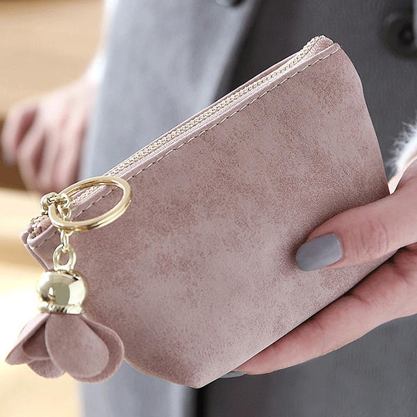 Simple Frosted Clutch Bag Coin Bag Card Bag Fresh Purse For Ladies