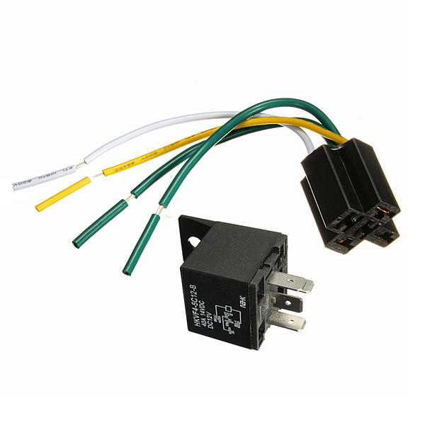 1 12v 12 volt 30 40a automotive relay with socket 30 amp 40 amp