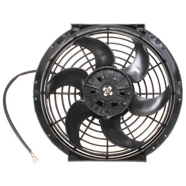Refrigeración radiador eléctrico delgado tirón de la fan de empuje reversible 10 pulgadas 12v