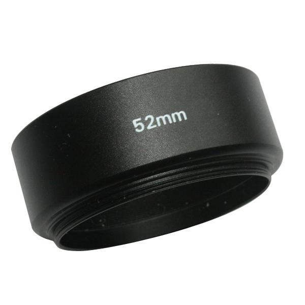 Paraluce EMOLUX 52 millimetri in metallo per Canon / Nikon 50 millimetri F1.8 nero