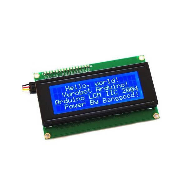 Geekcreit® IIC I2C 2004 204 20 x 4 Caractère LCD Affichage Module Bleu pour Arduino
