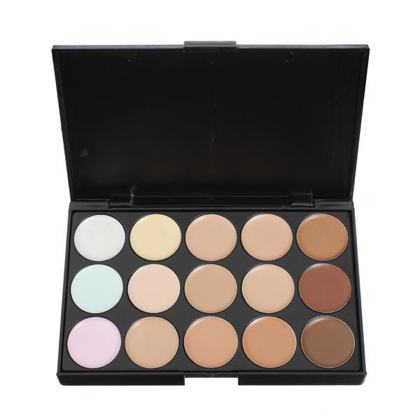 15 colores Maquillaje conjunto de paleta de maquillaje corrector