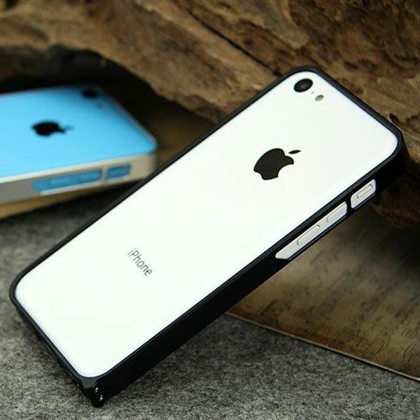 Renkli Metal Çerçeve Şasi Tamponu Kılıf iPhone 5C için Kapak