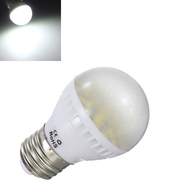 E26 6W Pure White Medium Base 24 SMD 5050 LED Energy Saving Bulb 110V