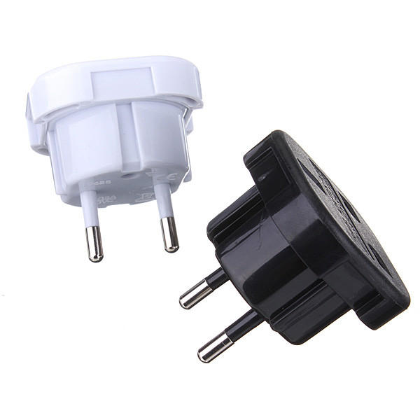 2 Pin Universal UK To EU Travel Plug Power Charger Adapter