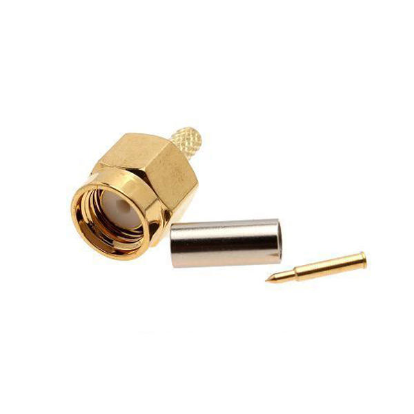 Conector RF 50-1.5 Macho SMA Para Cable RG174 RG316 LMR100