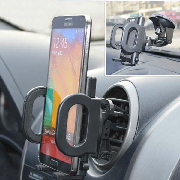 Universelle 360 degrés titulaire d'évacuation d'air de voiture de rotation pour téléphone mobile gps